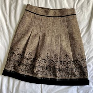 LOFT Skirt with Velvet trim